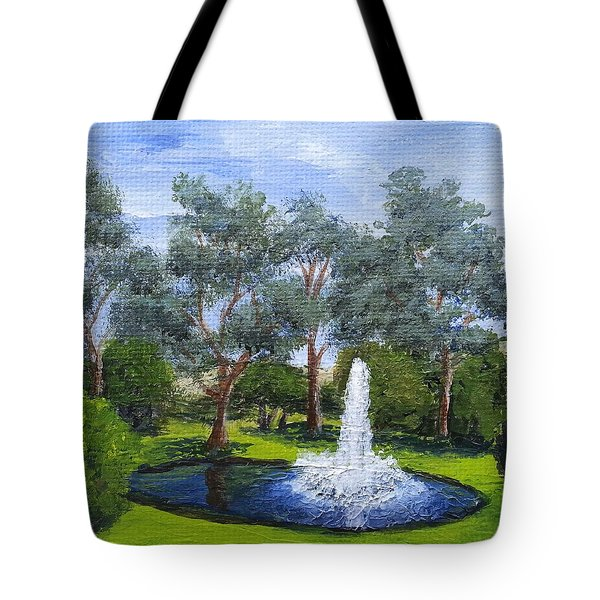 Village Fountain Tote Bag