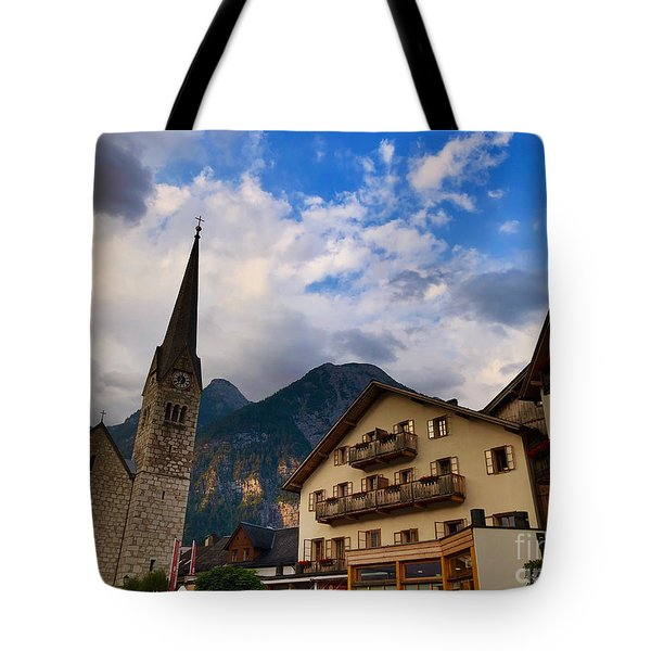 Village Hallstatt Tote Bag