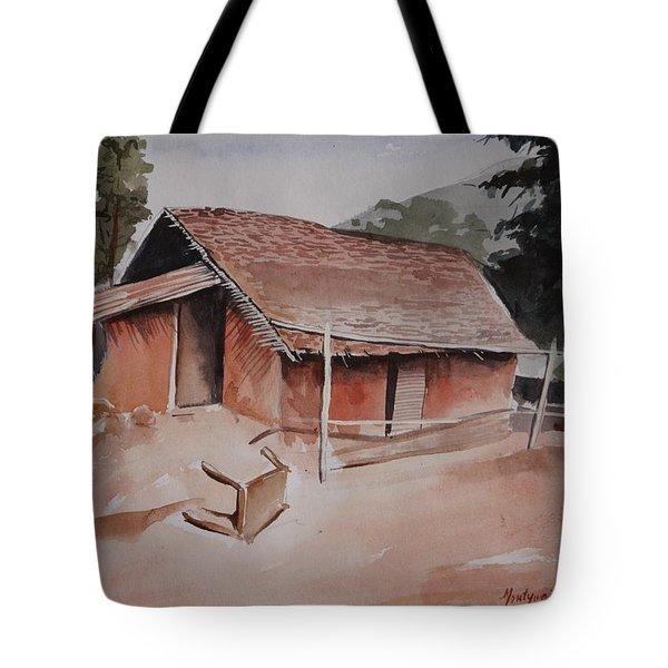 Village Hut Tote Bag