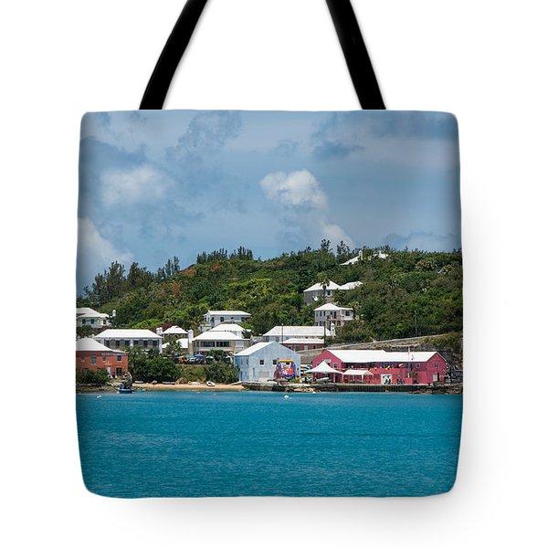 Village In Bermuda Tote Bag