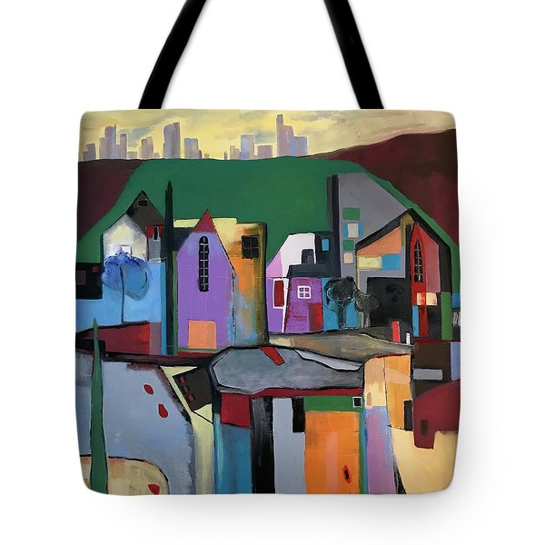 Village Near The City Tote Bag