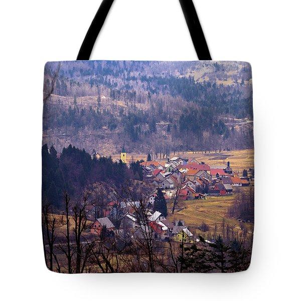 Village Of Lokve In Gorski Kotar  Tote Bag
