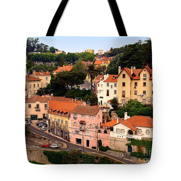 Tote Bag featuring the photograph Village Of Sintra by Sue Melvin