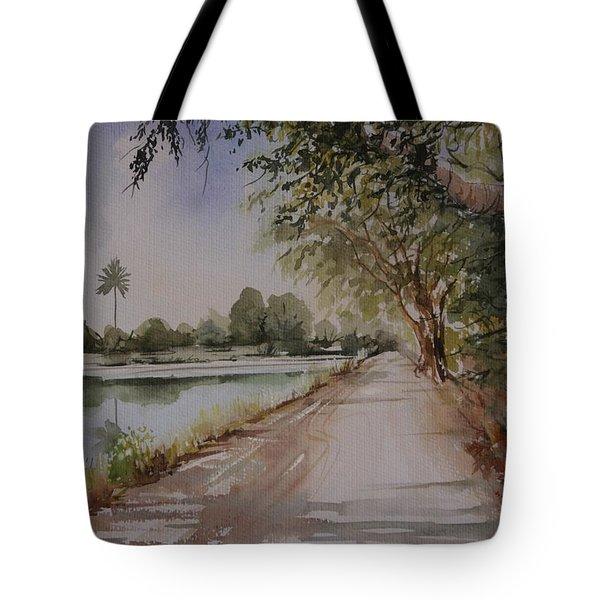 Village Road Tote Bag