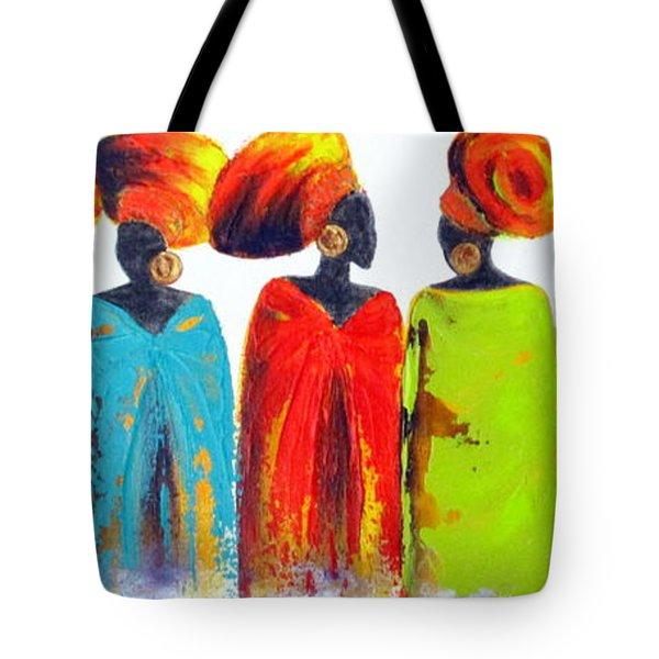 Village Talk Tote Bag