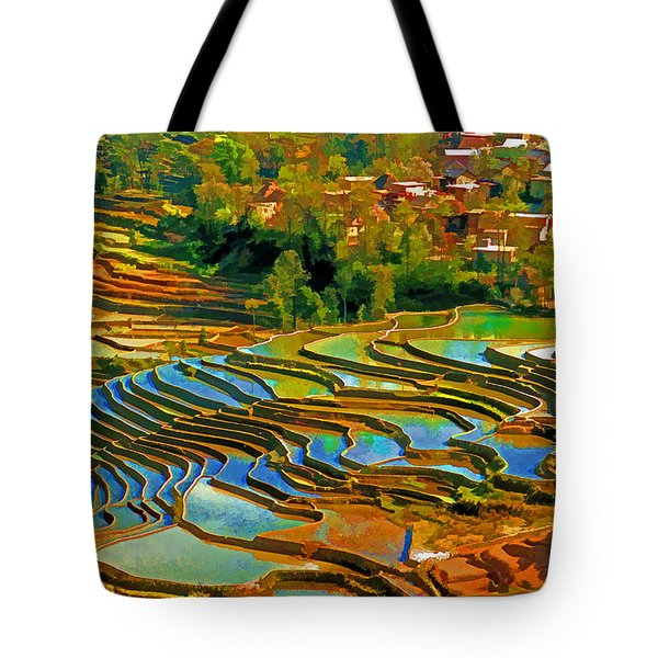 Village Terraces Tote Bag by Dennis Cox WorldViews