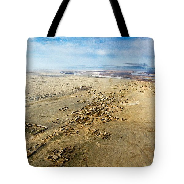 Village Toward Amu Darya River Tote Bag