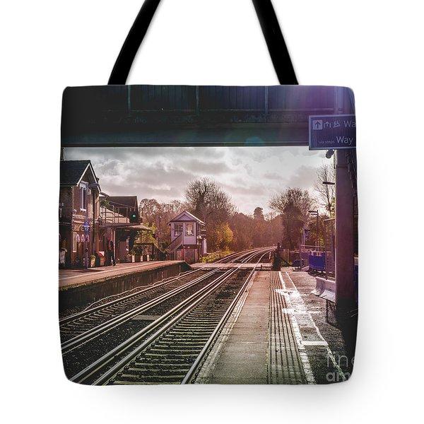 The Village Train Station Tote Bag