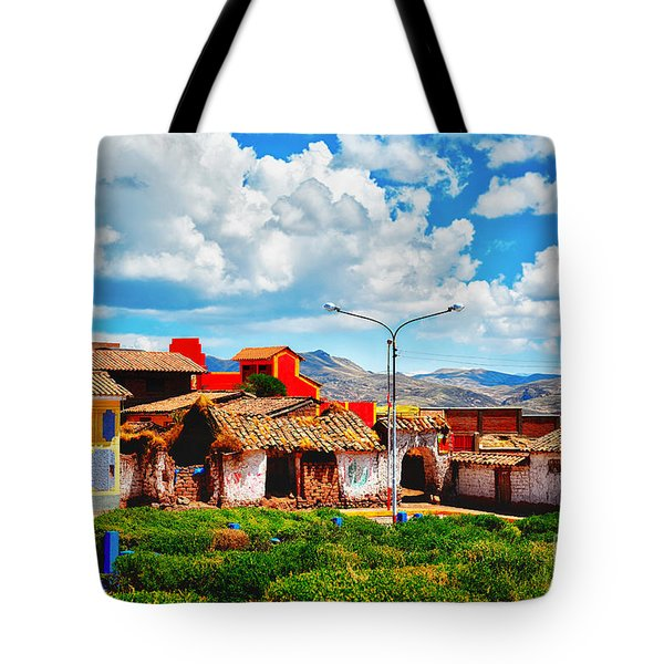 Village Up High In Peruvian Mountains Tote Bag