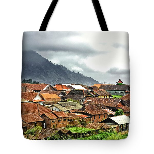 Tote Bag featuring the photograph Village View by Charuhas Images