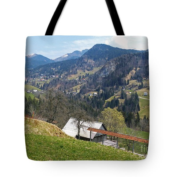 Villages In The Mountains Tote Bag