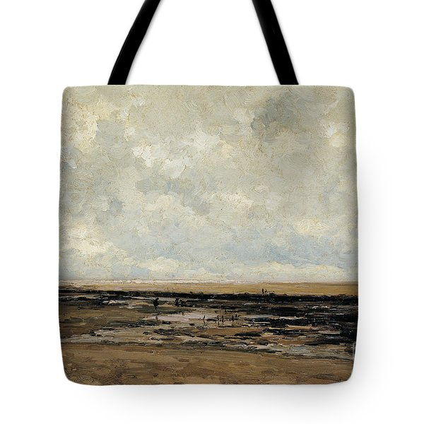 Villerville Beach In Normandy Tote Bag