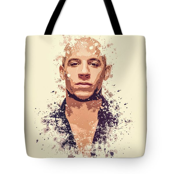 Vin Diesel Splatter Painting Tote Bag