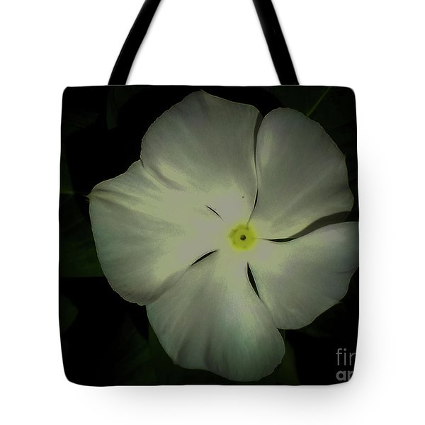 Vinca Bloom Night Glow Tote Bag