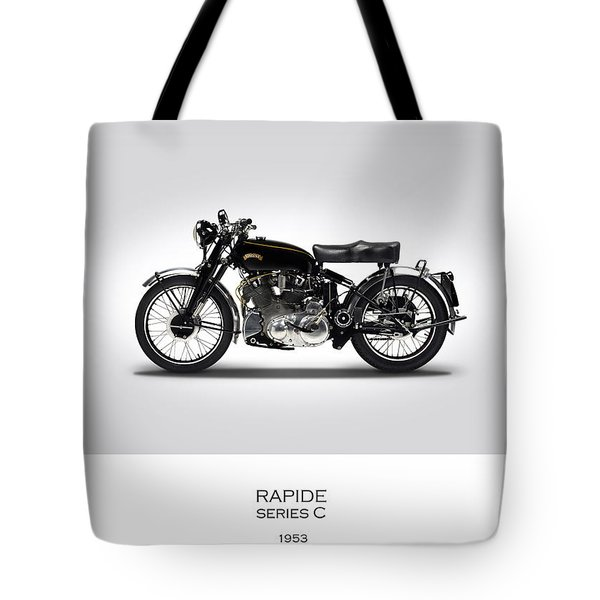 Vincent Rapide 1953 Tote Bag by Mark Rogan