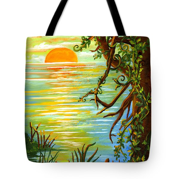 Vine And Branches Tote Bag by Elaine Hodges