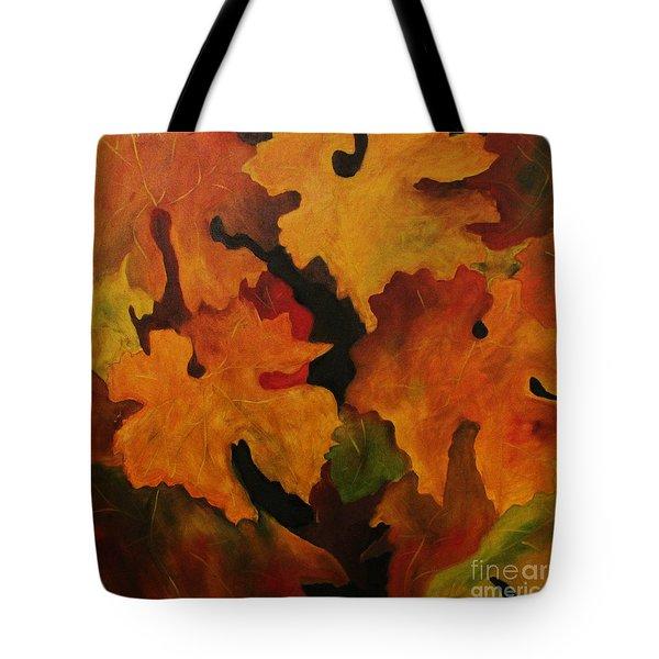 Vine Leaves Tote Bag by John Stuart Webbstock