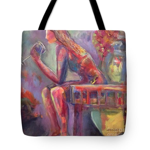 Vine Wine Tote Bag by Gail Butters Cohen