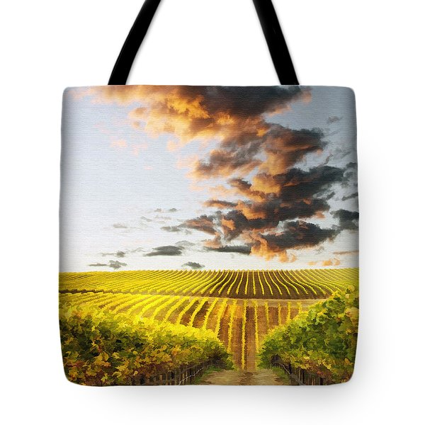 Vineard Aglow Tote Bag by Sharon Foster