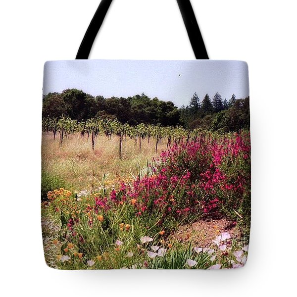 vines and flower SF peninsula Tote Bag by Ted Pollard