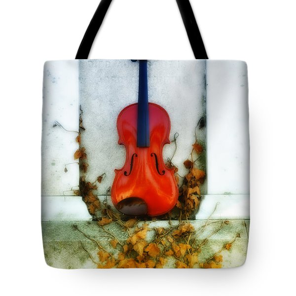 Vines And Violin Tote Bag by Bill Cannon