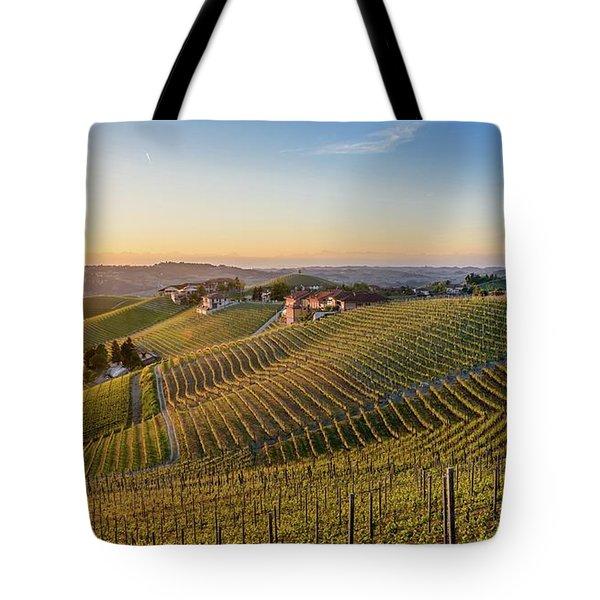 Vineyard At Barbaresco, Italy Tote Bag