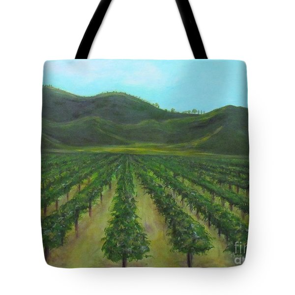Vineyard Drive By Tote Bag