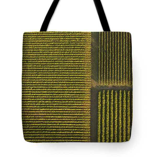 Vineyard From Above Tote Bag