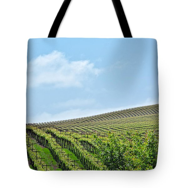 Tote Bag featuring the photograph Vineyard Hillside by Kim Wilson