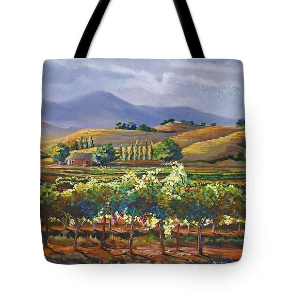 Vineyard In California Tote Bag by Heather Coen