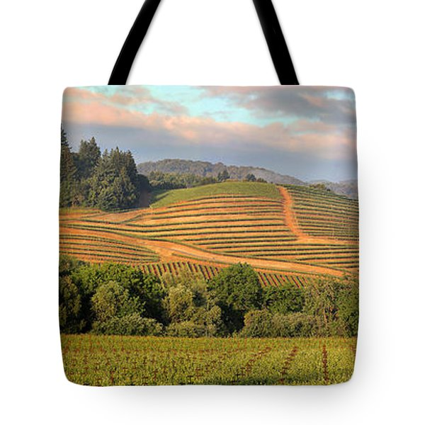 Vineyard In Dry Creek Valley, Sonoma County, California Tote Bag