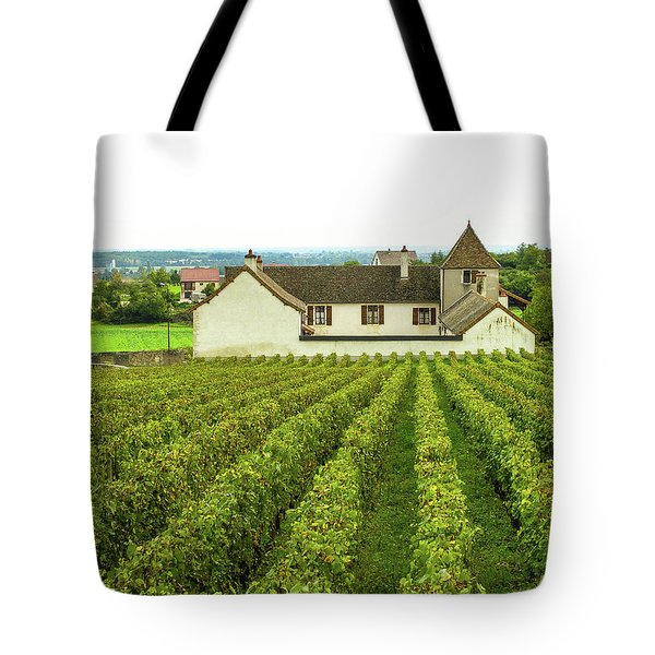 Tote Bag featuring the photograph Vineyard In France by Jim Mathis