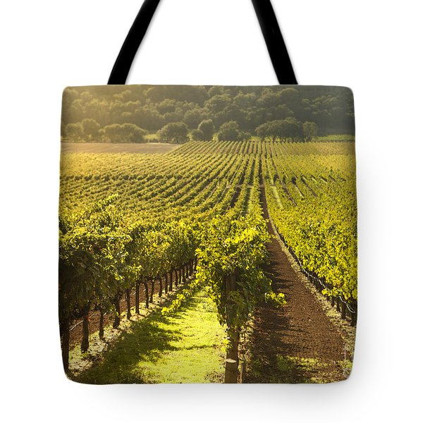 Vineyard In Napa Valley Tote Bag