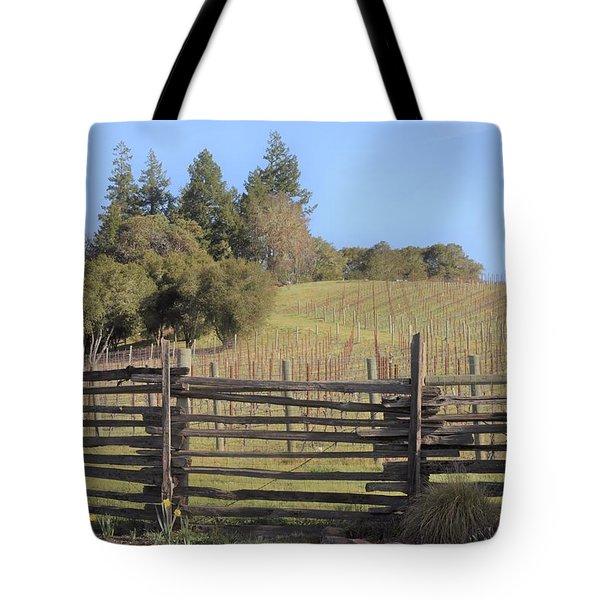 Vineyard In The Spring Tote Bag