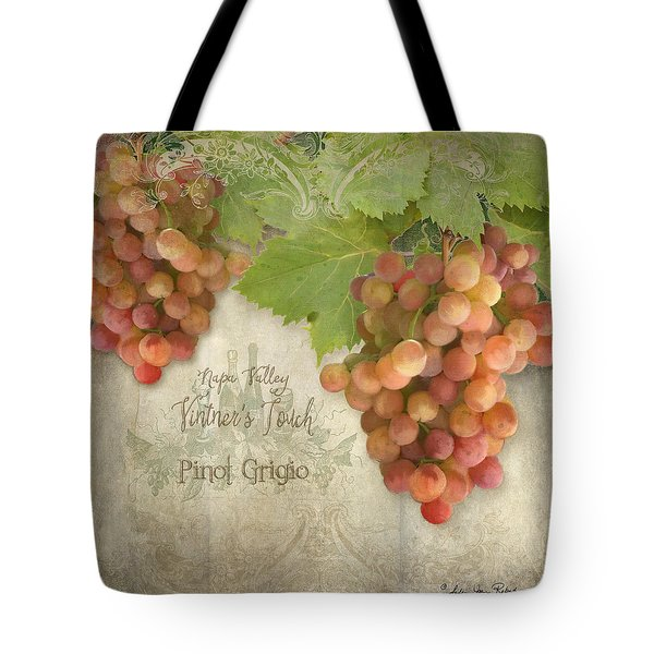 Vineyard - Napa Valley Vintner's Touch Pinot Grigio Grapes  Tote Bag by Audrey Jeanne Roberts