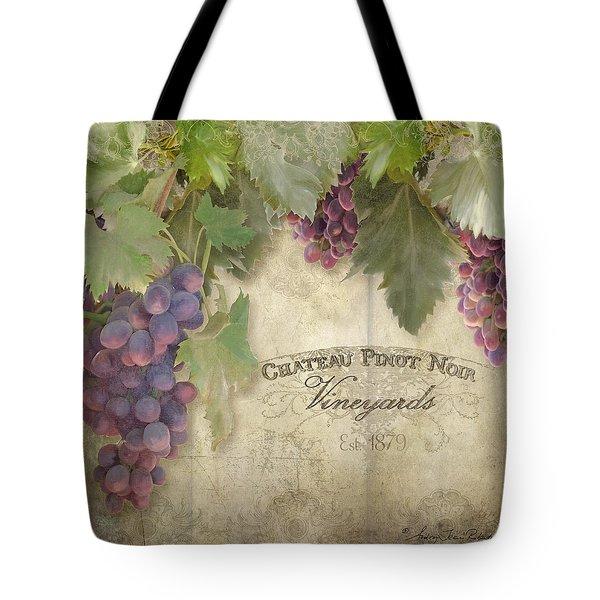 Vineyard Series - Chateau Pinot Noir Vineyards Sign Tote Bag