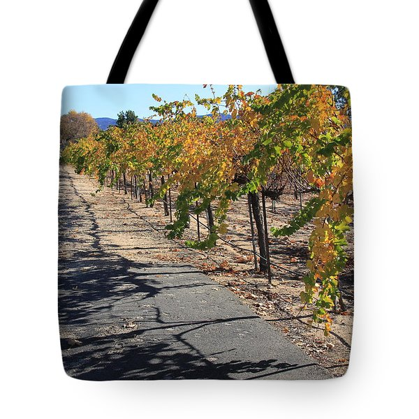 Vineyard Shadows Tote Bag