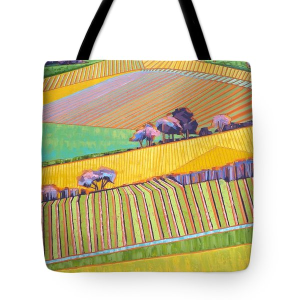 Vineyard Vertical Tote Bag