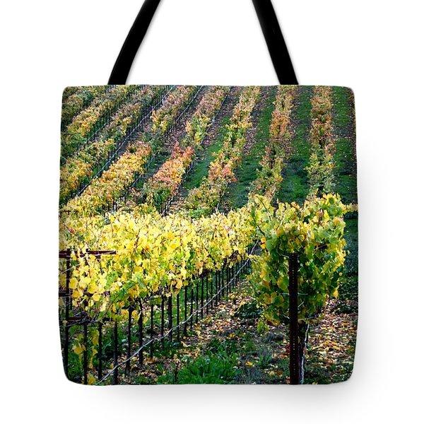 Vineyards In Healdsburg Tote Bag by Charlene Mitchell