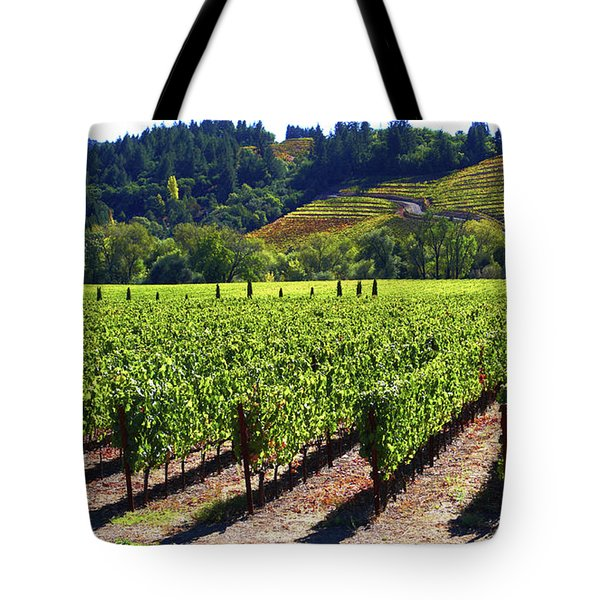 Vineyards In Sonoma County Tote Bag by Charlene Mitchell