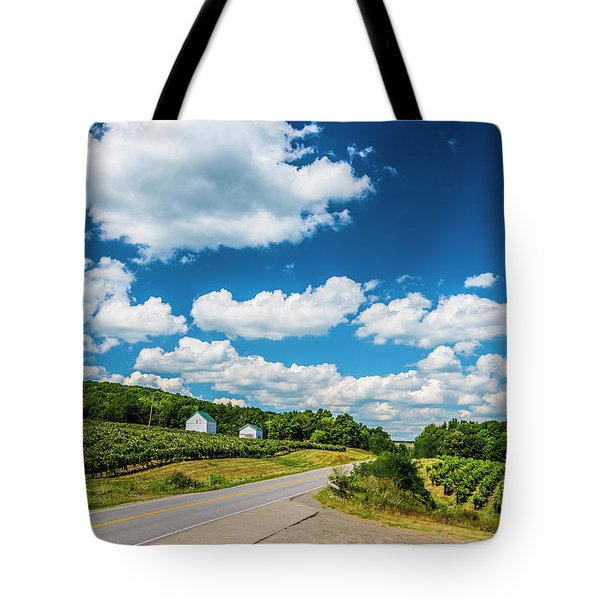 Vineyards In Summer Tote Bag