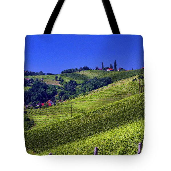Vineyards Of Jerusalem Slovenia Tote Bag by Graham Hawcroft pixsellpix