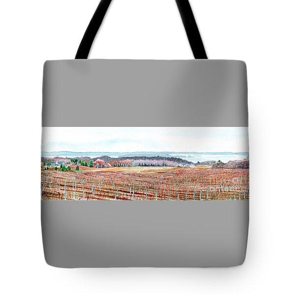 Vineyards Of Mission Peninsula Tote Bag