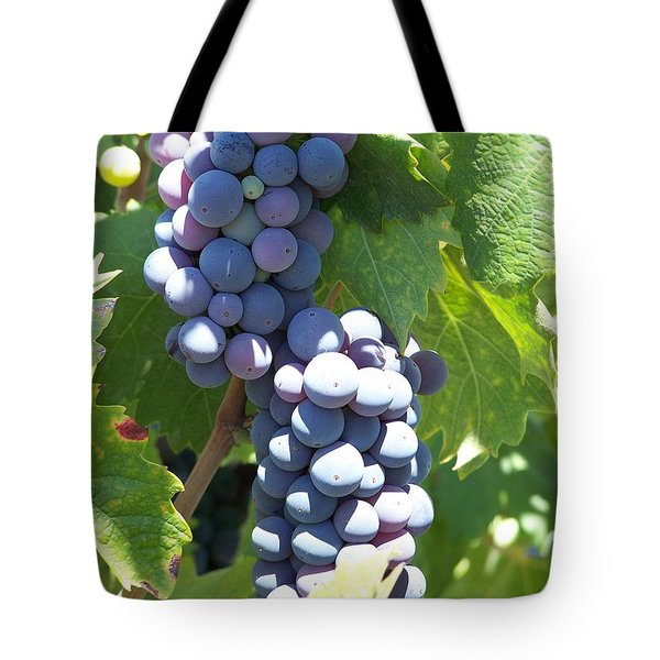 Vino On The Way Tote Bag by Pamela Walrath