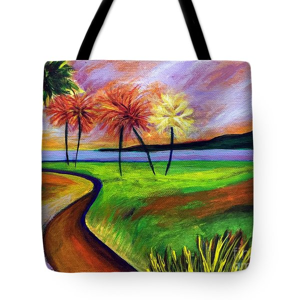 Vinoy Park In Purple Tote Bag by Elizabeth Fontaine-Barr