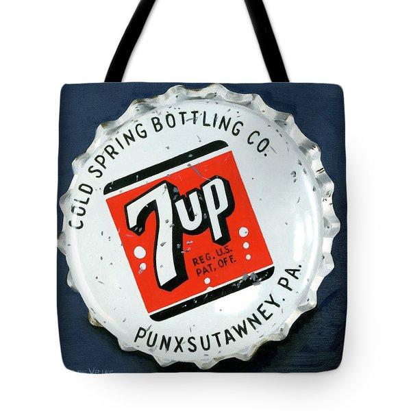 Vintag Bottle Cap, 7up Tote Bag
