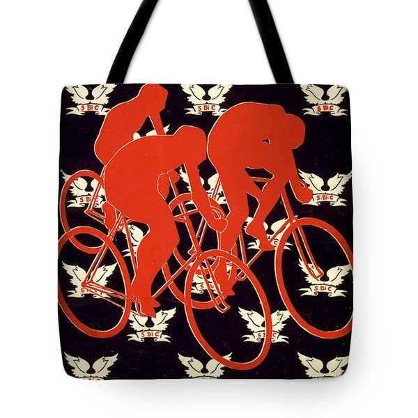 Tote Bag featuring the photograph Vintage 1895 Springfield Bicycle Club Poster by John Stephens