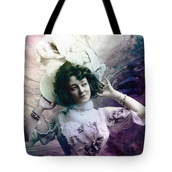 Tote Bag featuring the digital art Vintage 1900 Fashion by Robert G Kernodle
