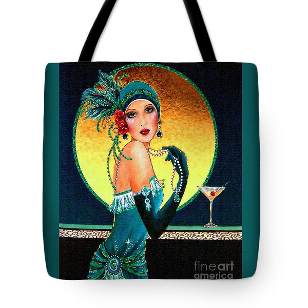 Vintage 1920s Fashion Girl  Tote Bag