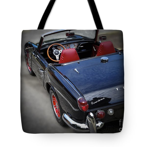 Tote Bag featuring the photograph Vintage 1966 Triumph Spitfire by Melissa Messick